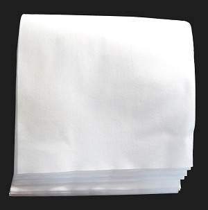 "15"" x 36"" White Airlaid Bath Towel 10# Gross Weight"