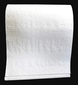 "15"" x 30"" 2 Ply White Scrim Bath Towel - 300 count"